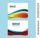 set of abstract  horizontal... | Shutterstock .eps vector #1018253224