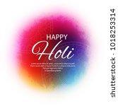 happy holi indian spring...   Shutterstock .eps vector #1018253314