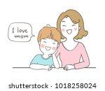vector illustration character... | Shutterstock .eps vector #1018258024