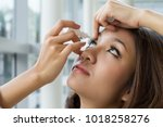 Woman Using Eye Drop  Woman...