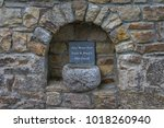 holy water font at a holy well...   Shutterstock . vector #1018260940