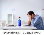 man alone preparing for... | Shutterstock . vector #1018264990
