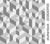 abstract cube background with... | Shutterstock .eps vector #1018265920