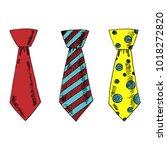 set of hand drawn vector ties. | Shutterstock .eps vector #1018272820