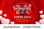 valentines day sale background... | Shutterstock .eps vector #1018276204