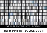 silver gradient set background... | Shutterstock .eps vector #1018278934