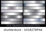 silver gradient set background... | Shutterstock .eps vector #1018278946