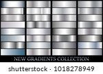 silver gradient set background... | Shutterstock .eps vector #1018278949