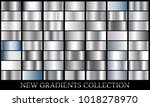 silver gradient set background...   Shutterstock .eps vector #1018278970
