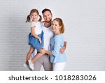 happy family mother father and... | Shutterstock . vector #1018283026
