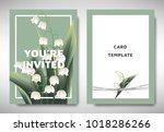 greeting invitation card... | Shutterstock .eps vector #1018286266