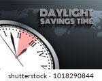 banner for change your clocks... | Shutterstock .eps vector #1018290844