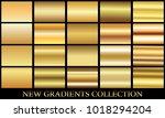 gold gradient set background... | Shutterstock .eps vector #1018294204