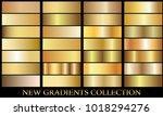 gold gradient set background... | Shutterstock .eps vector #1018294276
