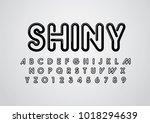 vector of stylized shiny font... | Shutterstock .eps vector #1018294639