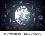 abstract technology ui... | Shutterstock .eps vector #1018295200