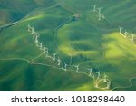 beautiful green aerial view of... | Shutterstock . vector #1018298440