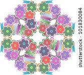abstract flower seamless... | Shutterstock .eps vector #101830084