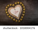 Happy Valentine Day Hearts On...
