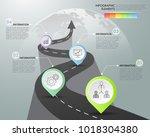 road way infographic template 4 ... | Shutterstock .eps vector #1018304380