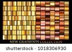 gold bronze gradient set...   Shutterstock .eps vector #1018306930