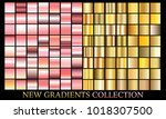 gold rose gradient set... | Shutterstock .eps vector #1018307500