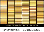 gold gradient set background... | Shutterstock .eps vector #1018308238