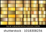 Gold Gradient Set Background...