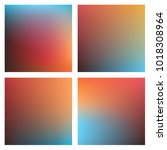 smooth colorful blurry... | Shutterstock .eps vector #1018308964
