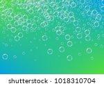 shampoo bubbles on gradient... | Shutterstock .eps vector #1018310704