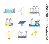 cartoon energy generation color ... | Shutterstock .eps vector #1018311586