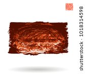 red brush stroke and texture.... | Shutterstock .eps vector #1018314598