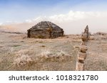 traditional altai building... | Shutterstock . vector #1018321780