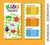 2 pages kids menu design with... | Shutterstock .eps vector #1018324414