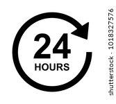 24 hours sign vector | Shutterstock .eps vector #1018327576