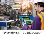 industry 4.0 robot concept ... | Shutterstock . vector #1018330600
