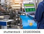 industry 4.0 robot concept ... | Shutterstock . vector #1018330606