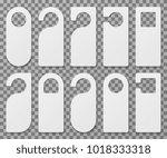 white blank hotel room door... | Shutterstock .eps vector #1018333318