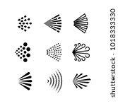 aerosol spray vector black... | Shutterstock .eps vector #1018333330