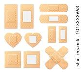 adhesive bandage elastic... | Shutterstock .eps vector #1018333663