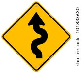 winding road sign | Shutterstock .eps vector #101833630