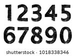 set of grunge numbers.vector... | Shutterstock .eps vector #1018338346