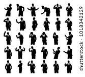 set of businessman silhouette...
