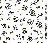 vector seamless pattern doodle... | Shutterstock .eps vector #1018345033