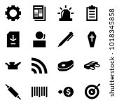 origami style icon set   gear... | Shutterstock .eps vector #1018345858