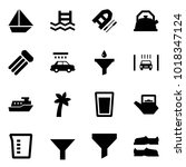 origami style icon set   sail... | Shutterstock .eps vector #1018347124