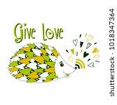 give love. vector illustration. | Shutterstock .eps vector #1018347364
