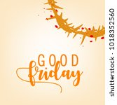 abstract good friday editable... | Shutterstock .eps vector #1018352560