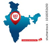 gst. good and services tax...   Shutterstock .eps vector #1018352650