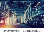 equipment  cables and piping as ... | Shutterstock . vector #1018360870